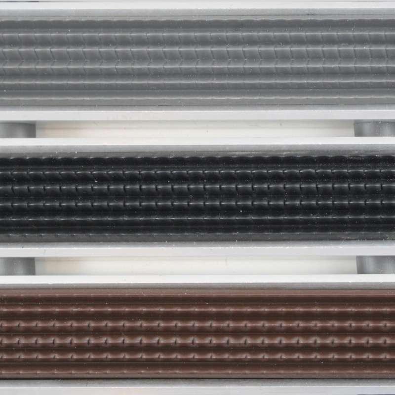 Clean Ryps - Rubber 40 x 60 cm - wycieraczka aluminiowa