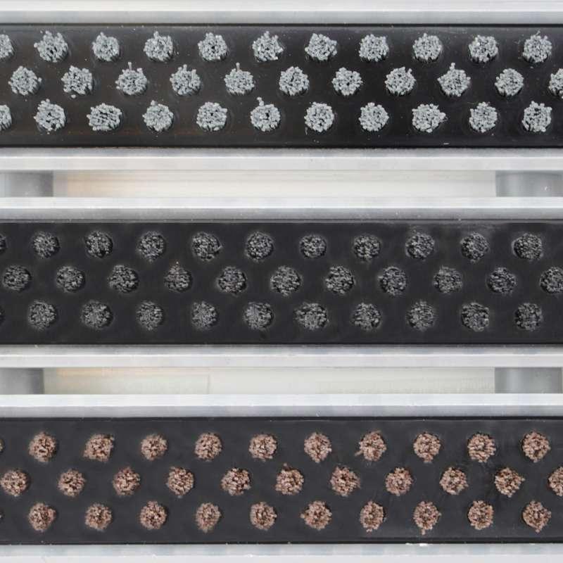 Clean Rubber - Scrub 80 x 100 cm - wycieraczka aluminiowa