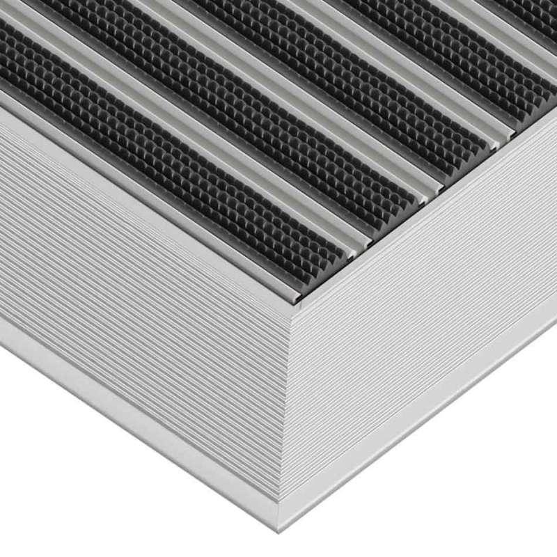 Clean Rubber 50 x 70 cm - wycieraczka aluminiowa z profilem najazdowym