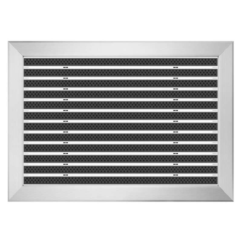Clean Scrub 50 x 70 cm - wycieraczka aluminiowa z profilem najazdowym