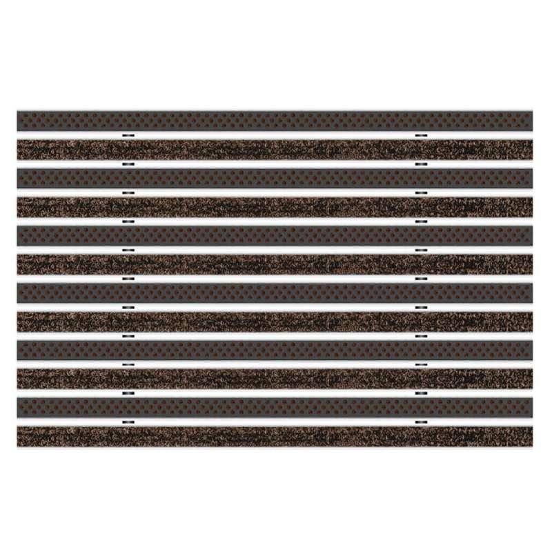 Clean Ryps - Scrub 60 x 90 cm - wycieraczka aluminiowa