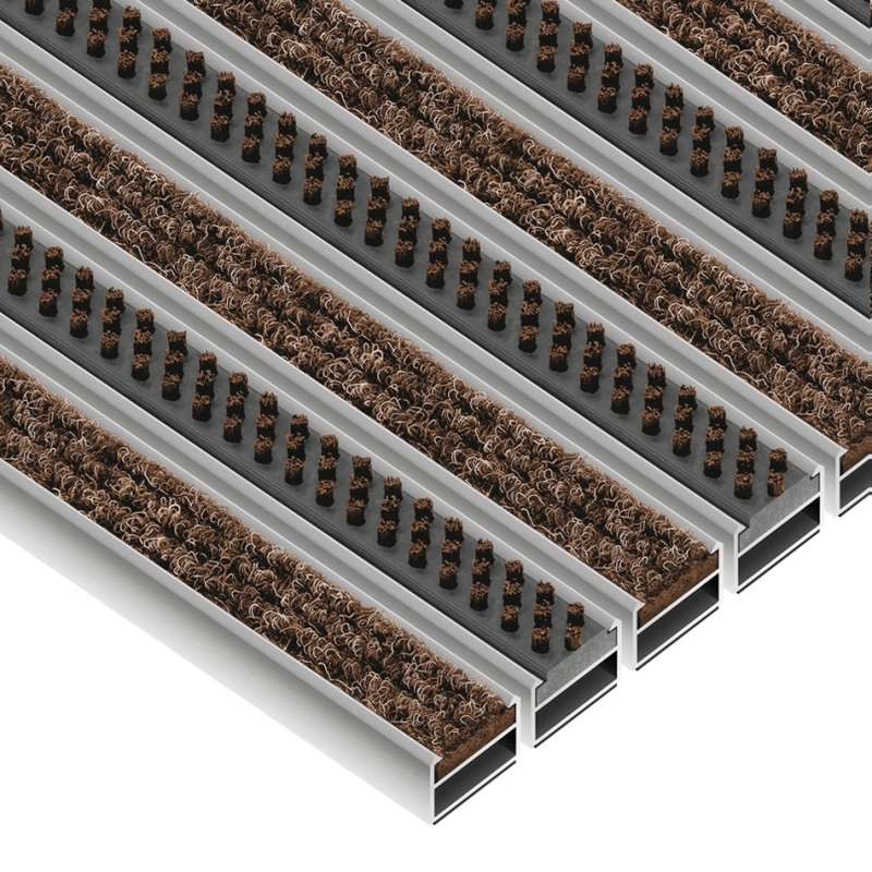 Clean Ryps - Scrub 40 x 60 cm - wycieraczka systemowa aluminiowa