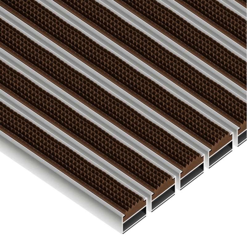 Clean Rubber 50 x 80 cm - wycieraczka aluminiowa