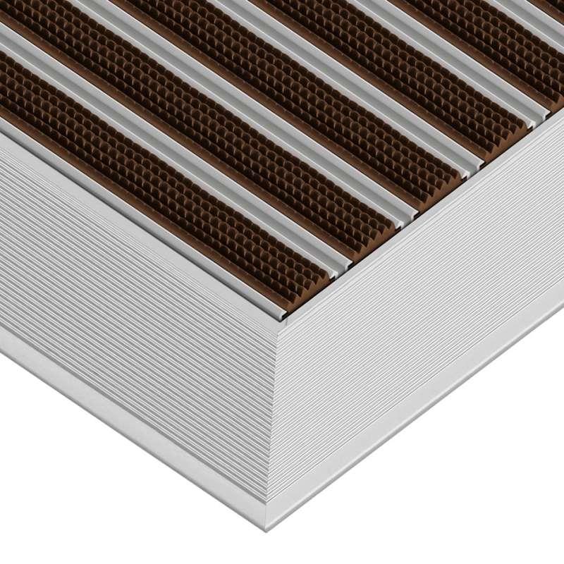 Clean Rubber 70 x 100 cm - wycieraczka aluminiowa z profilem najazdowym